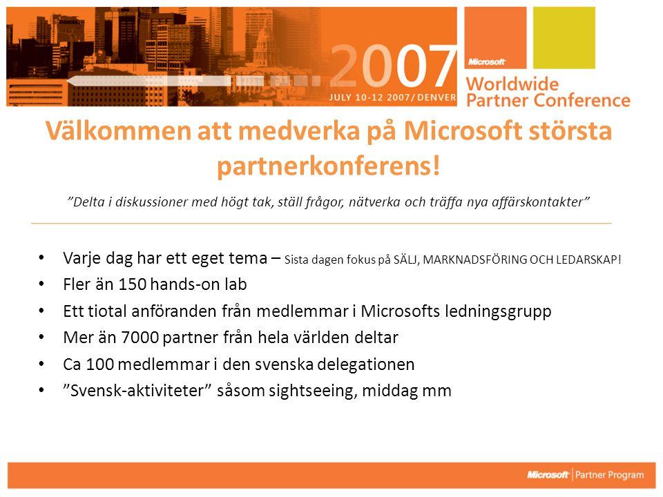 Välkommen att medverka på Microsoft största partnerkonferens!