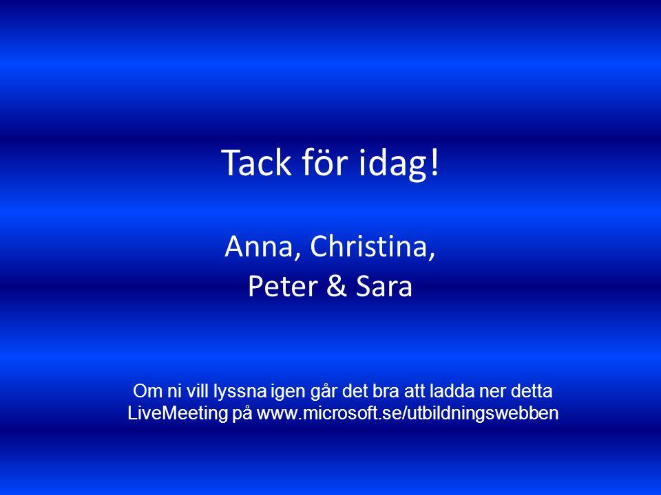 Anna, Christina, Peter & Sara