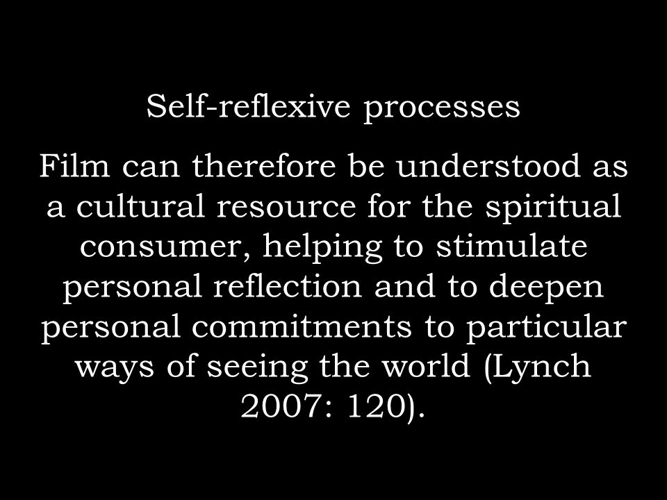 Self-reflexive processes