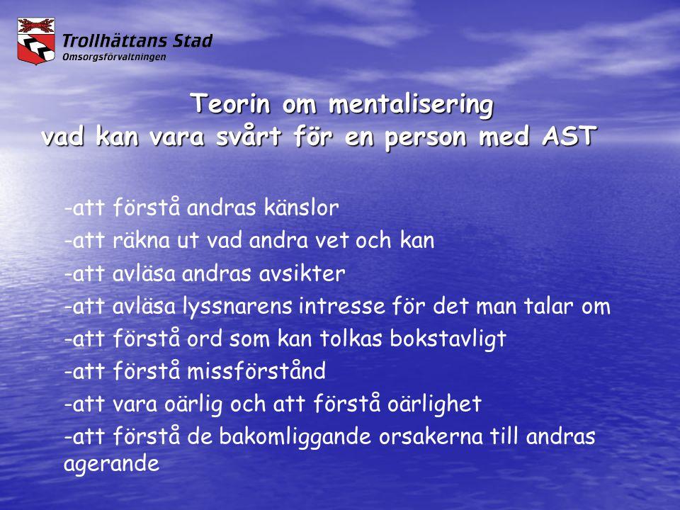 Teorin om mentalisering vad kan vara svårt för en person med AST