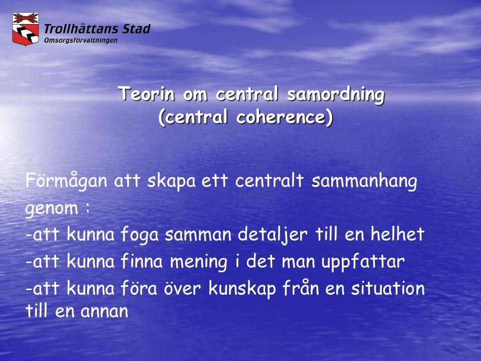 Teorin om central samordning (central coherence)