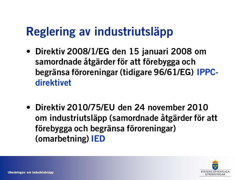 Reglering av industriutsläpp