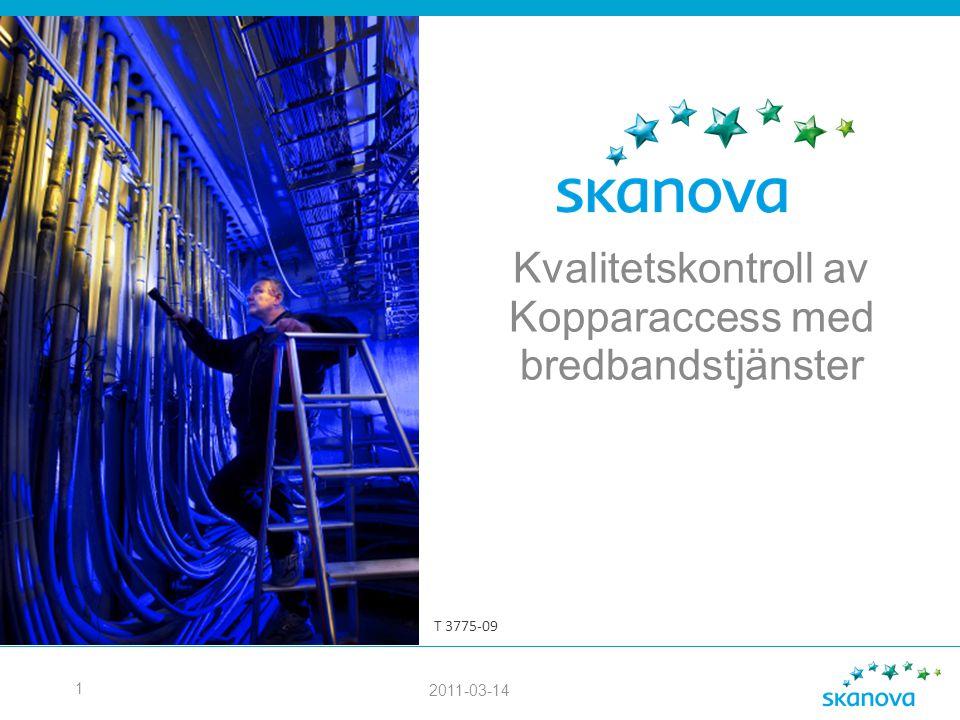 Kvalitetskontroll av Kopparaccess med bredbandstjänster