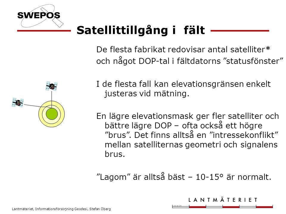 Satellittillgång i fält