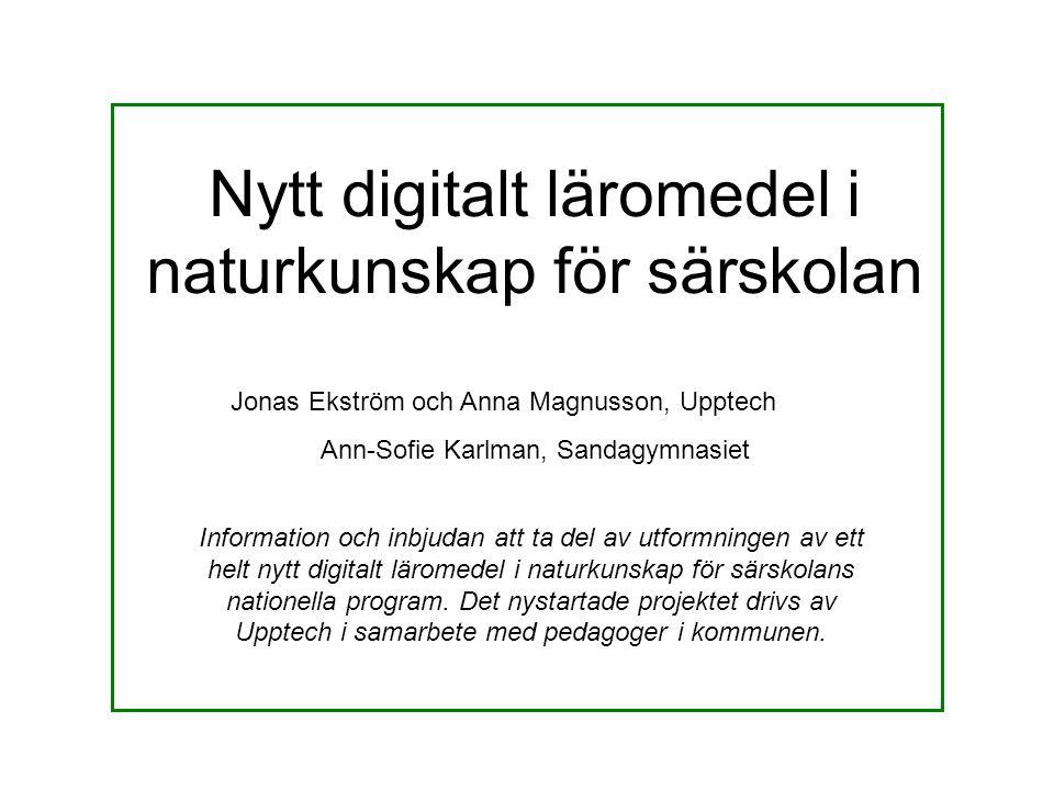 Nytt digitalt läromedel i naturkunskap för särskolan