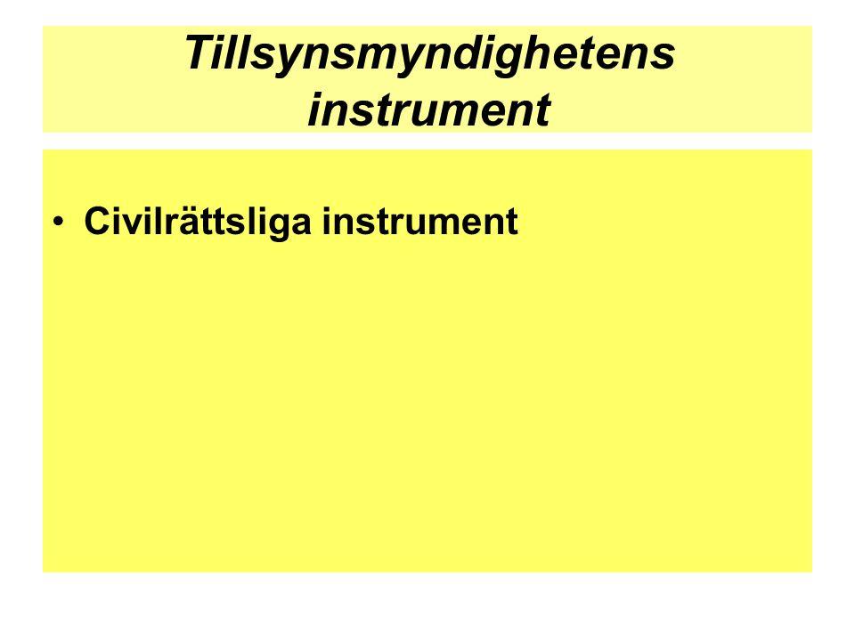 Tillsynsmyndighetens instrument