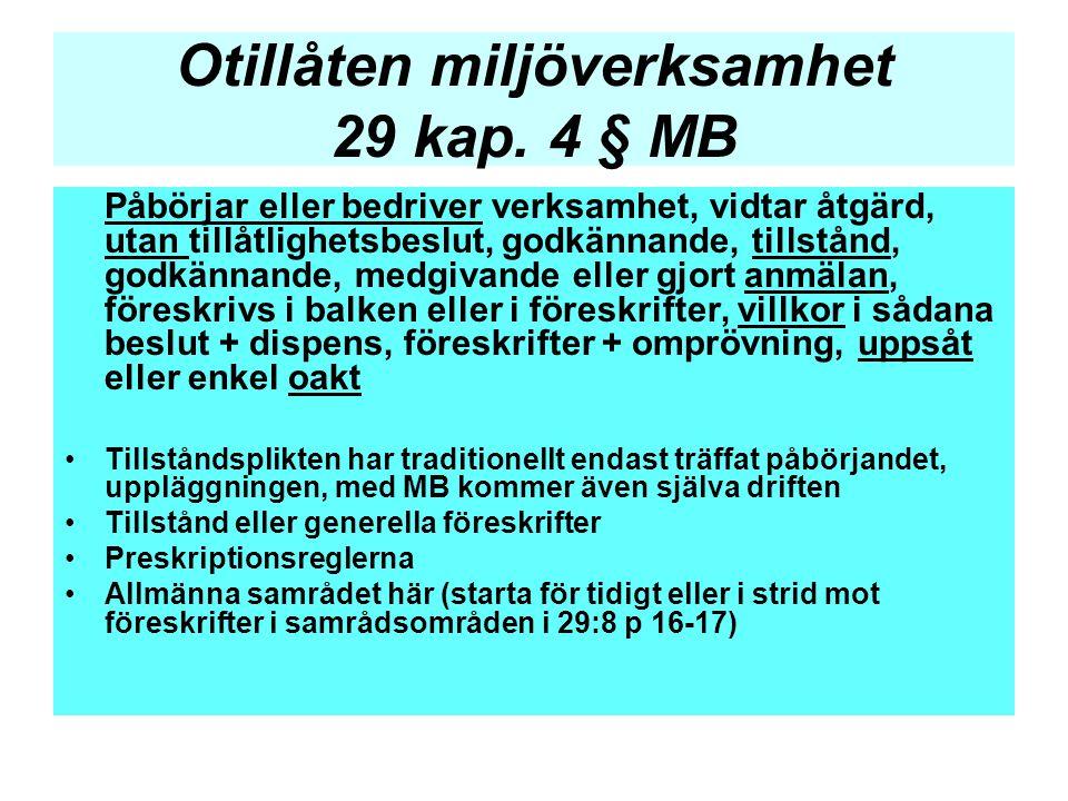 Otillåten miljöverksamhet 29 kap. 4 § MB