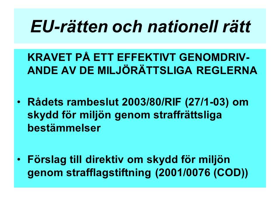 EU-rätten och nationell rätt