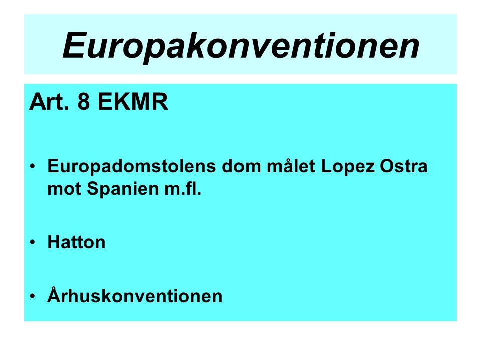 Europakonventionen Art. 8 EKMR