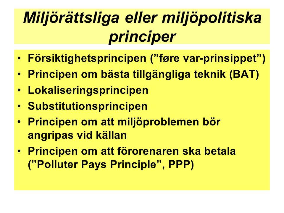Miljörättsliga eller miljöpolitiska principer