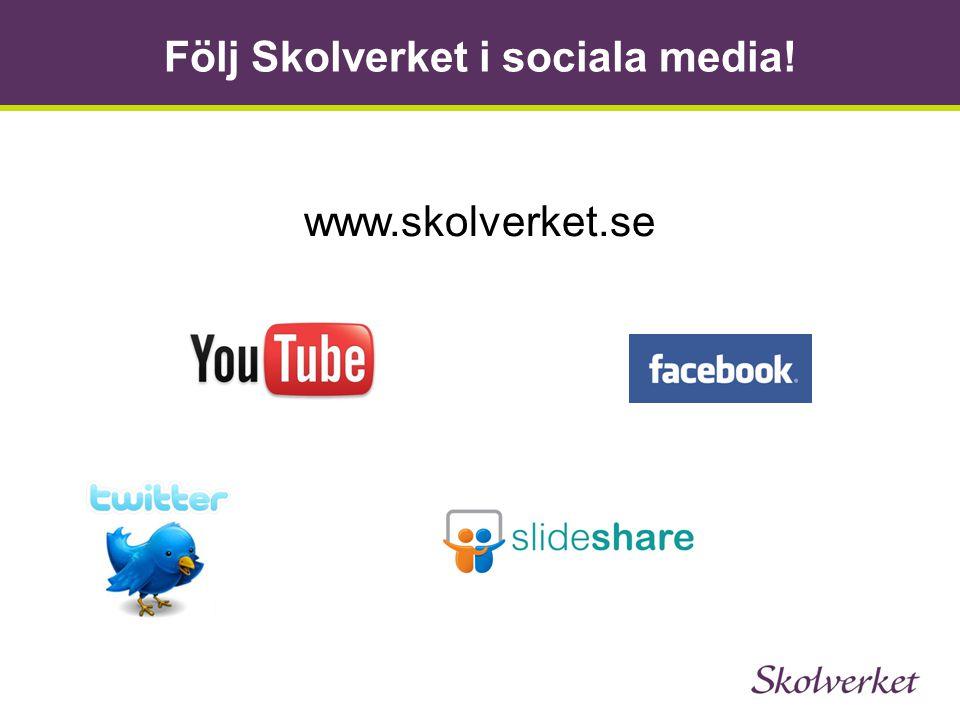 Följ Skolverket i sociala media!