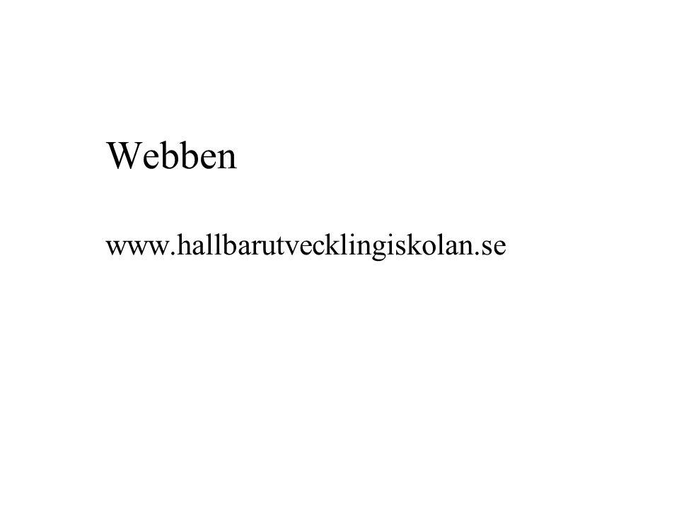 Webben www.hallbarutvecklingiskolan.se