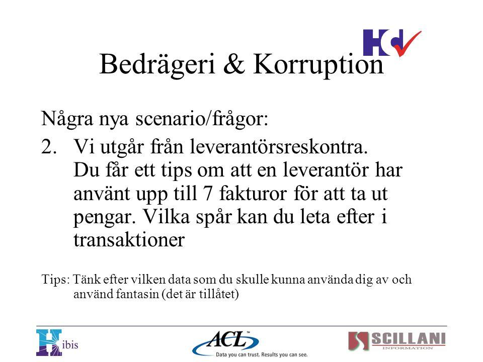 Bedrägeri & Korruption