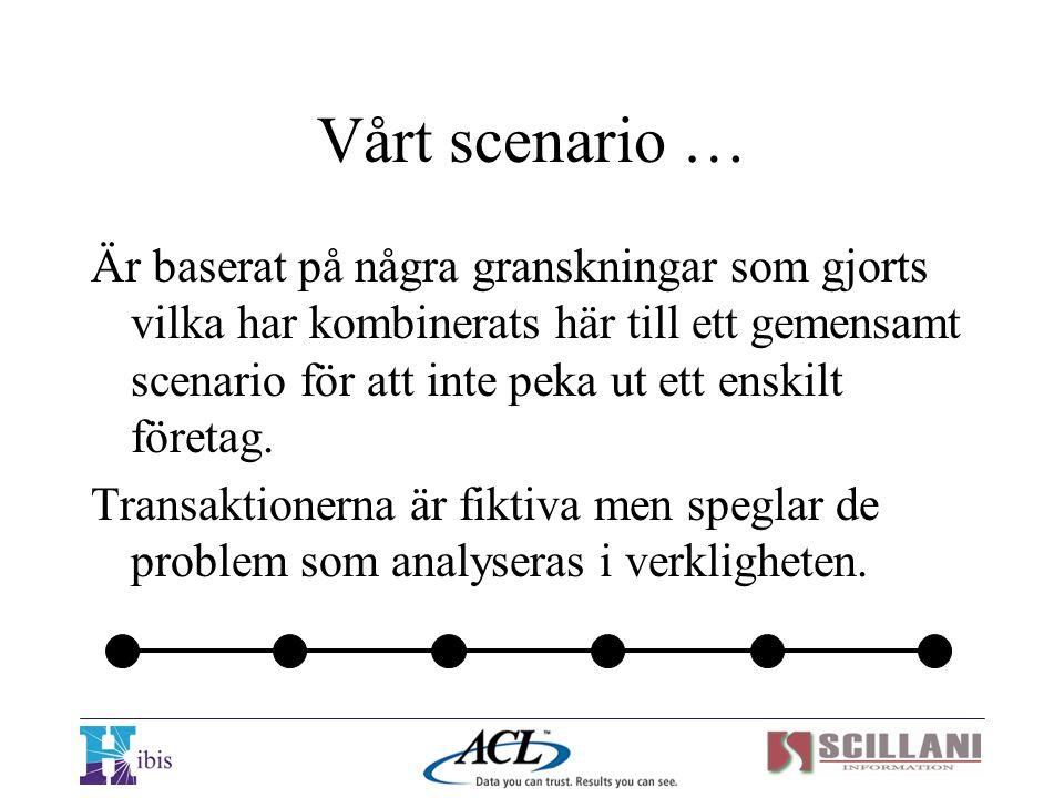 Vårt scenario …