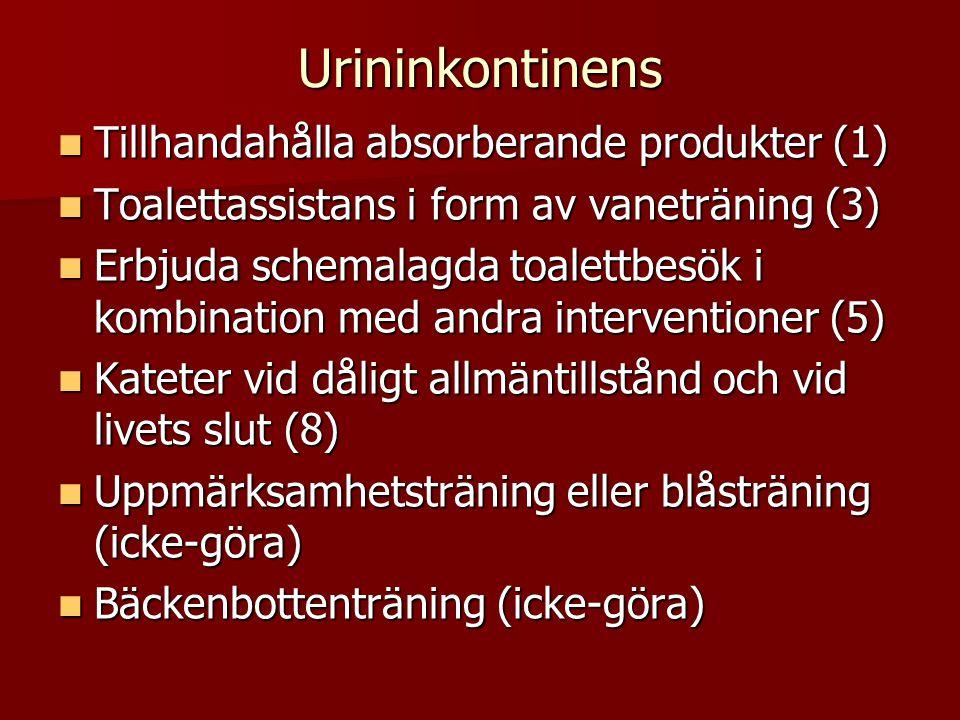 Urininkontinens Tillhandahålla absorberande produkter (1)