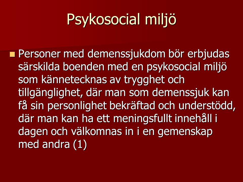 Psykosocial miljö