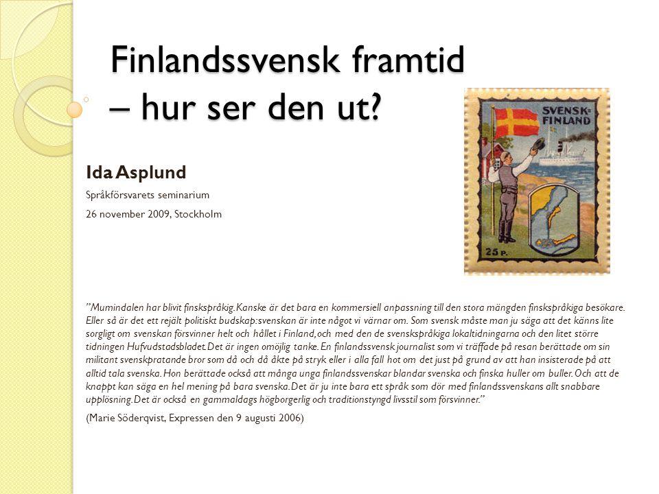 Finlandssvensk framtid – hur ser den ut