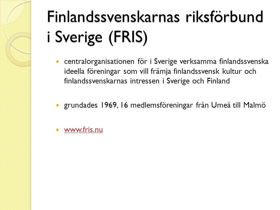 Finlandssvenskarnas riksförbund i Sverige (FRIS)