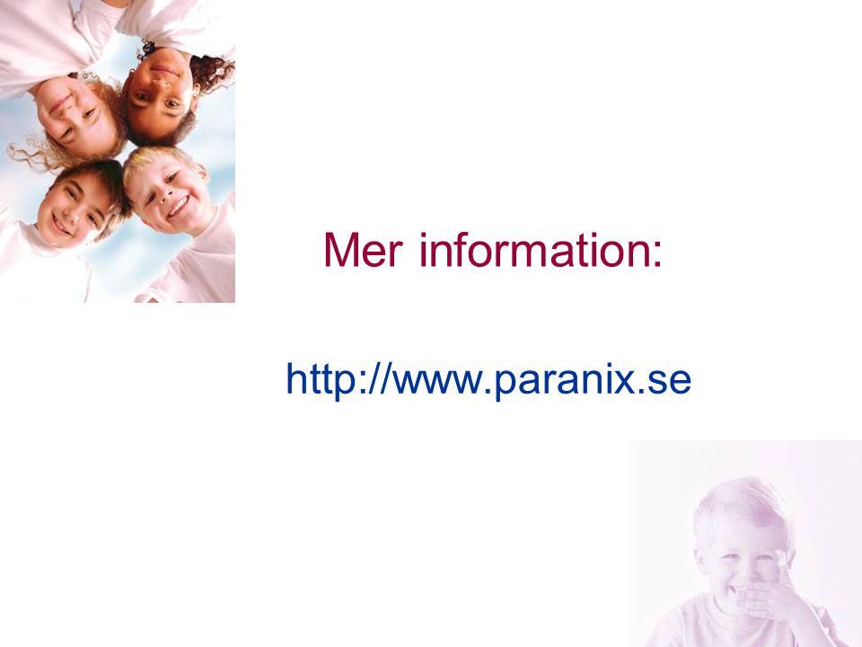 Mer information: http://www.paranix.se