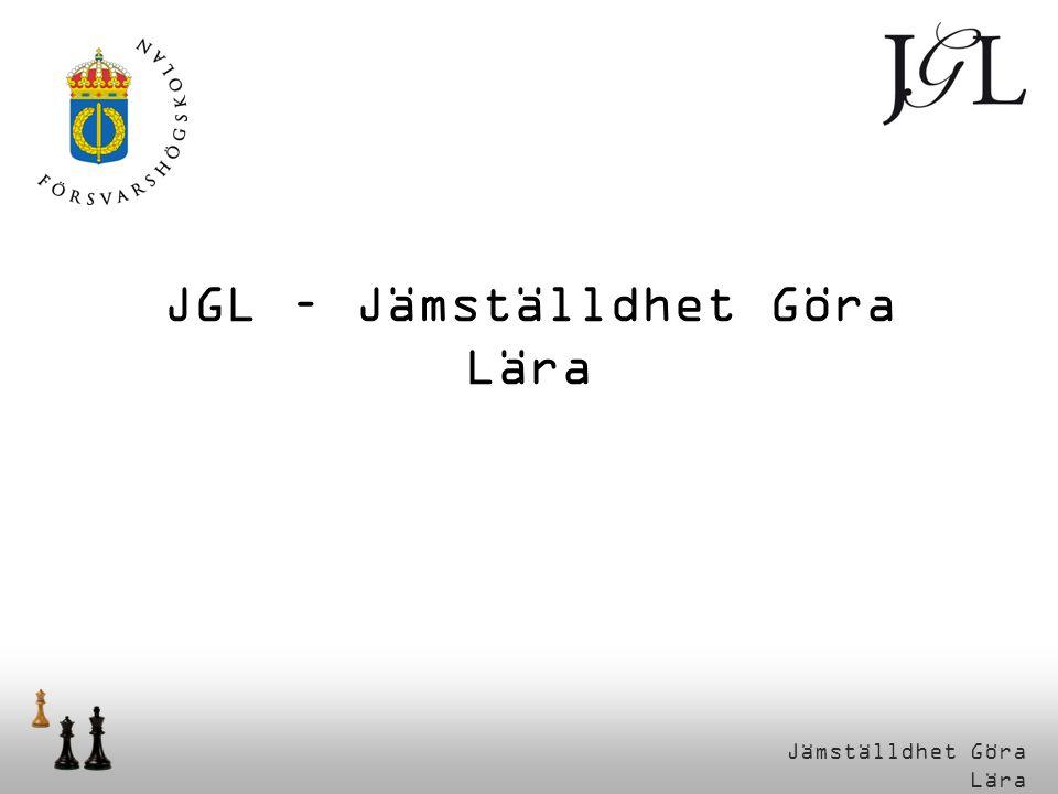 JGL – Jämställdhet Göra Lära