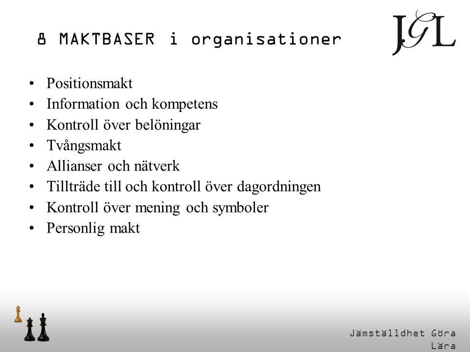 8 MAKTBASER i organisationer