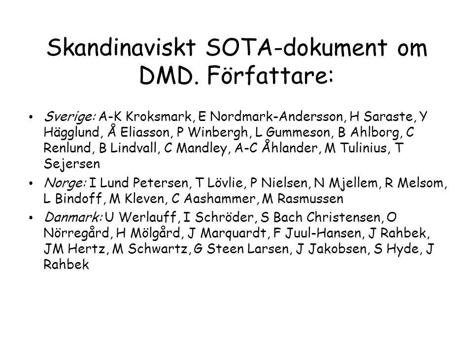 Skandinaviskt SOTA-dokument om DMD. Författare: