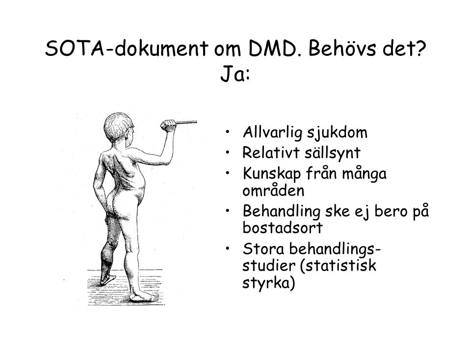 SOTA-dokument om DMD. Behövs det Ja: