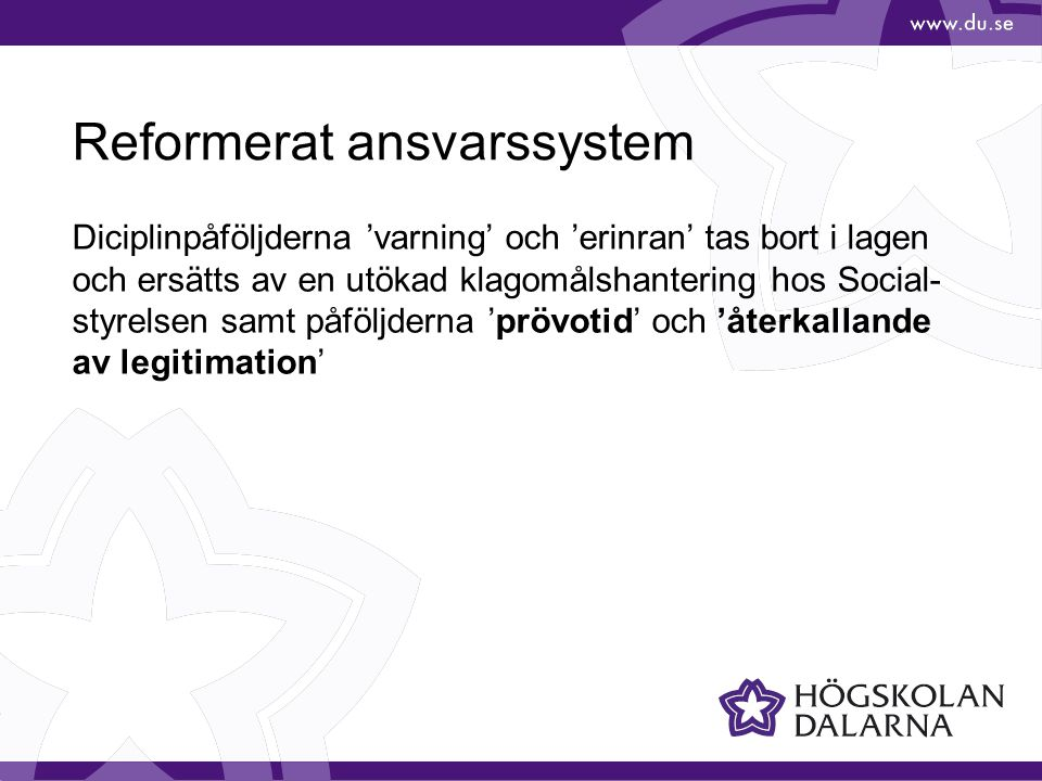 Reformerat ansvarssystem