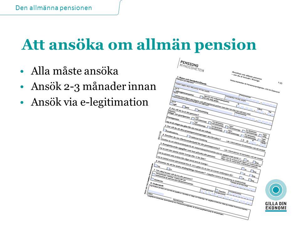 Att ansöka om allmän pension