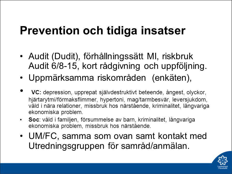 Prevention och tidiga insatser