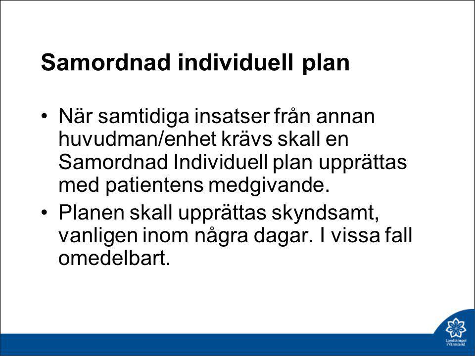 Samordnad individuell plan