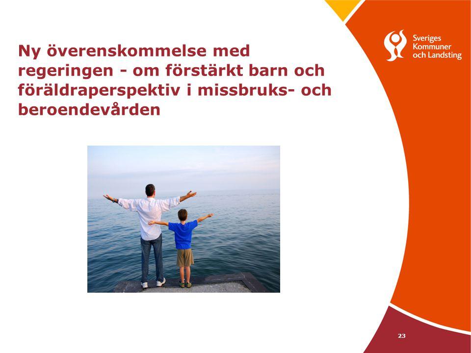 Ny överenskommelse med regeringen - om förstärkt barn och föräldraperspektiv i missbruks- och beroendevården