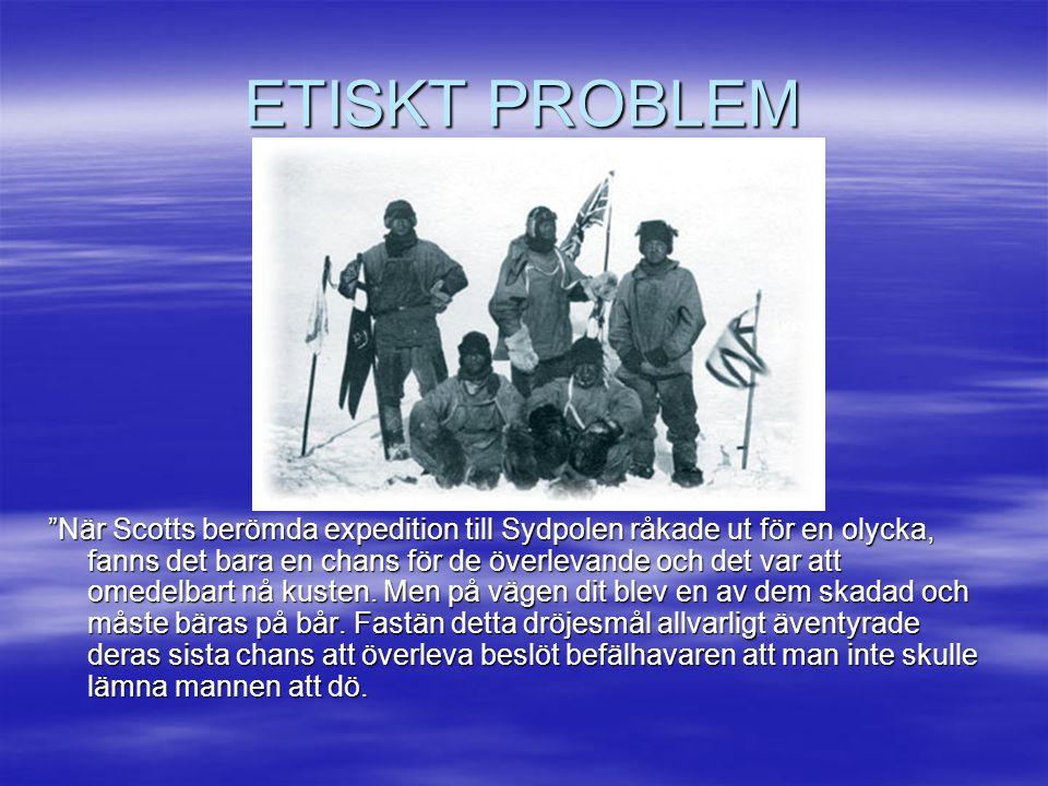 ETISKT PROBLEM