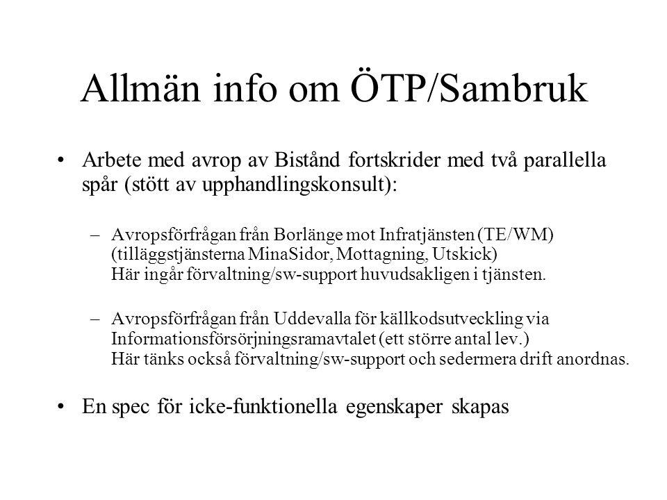 Allmän info om ÖTP/Sambruk