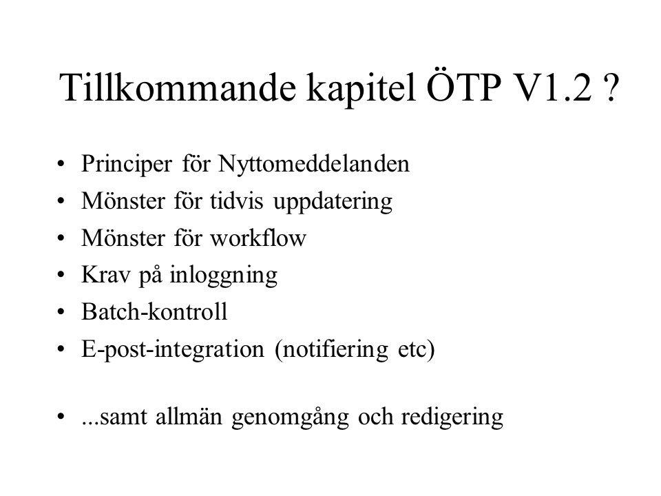 Tillkommande kapitel ÖTP V1.2