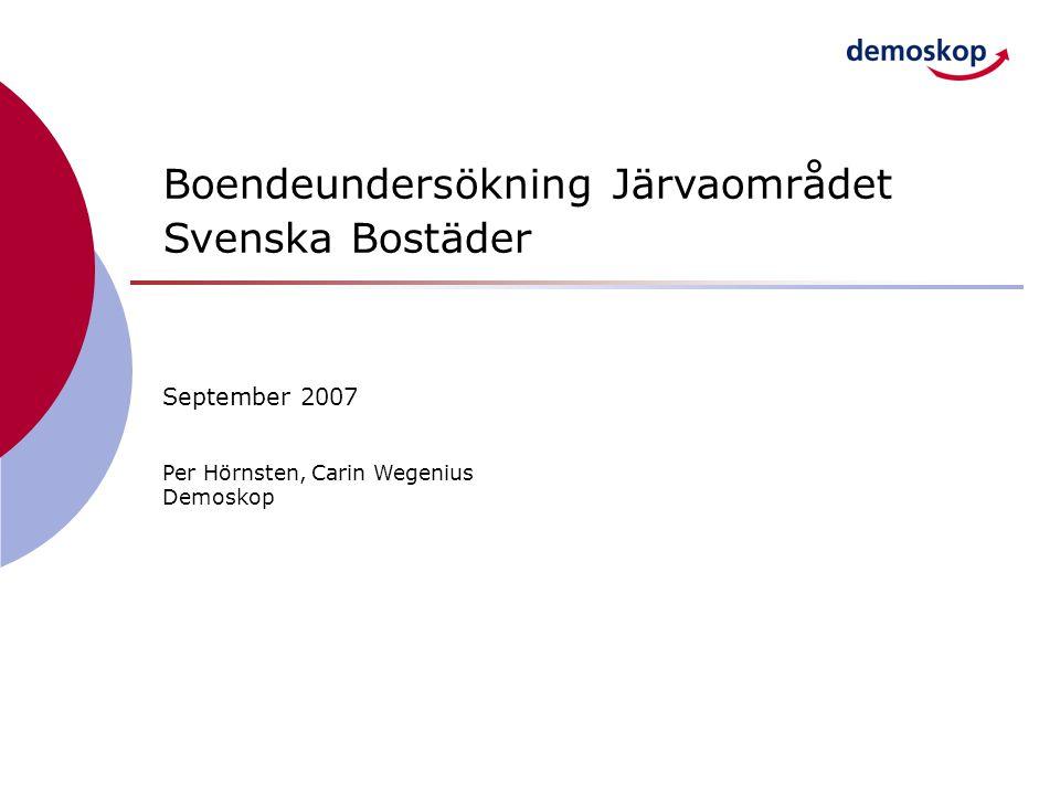 Boendeundersökning Järvaområdet Svenska Bostäder