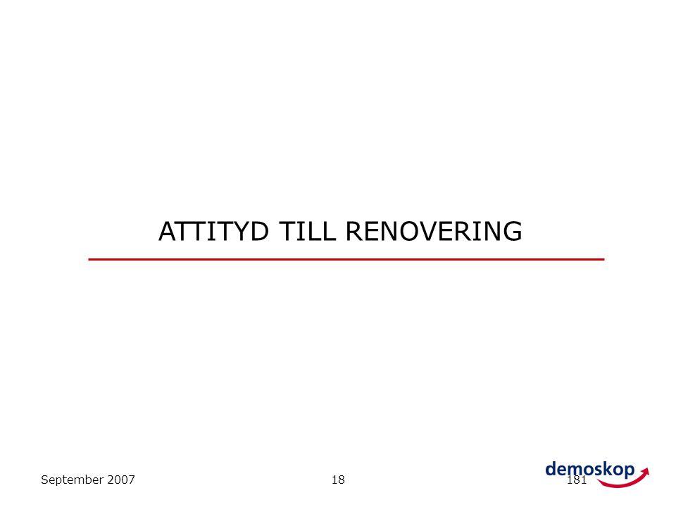 ATTITYD TILL RENOVERING