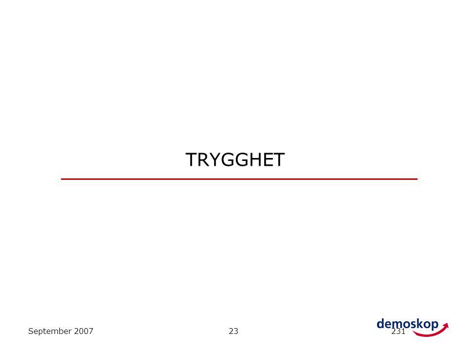 TRYGGHET September 2007 23