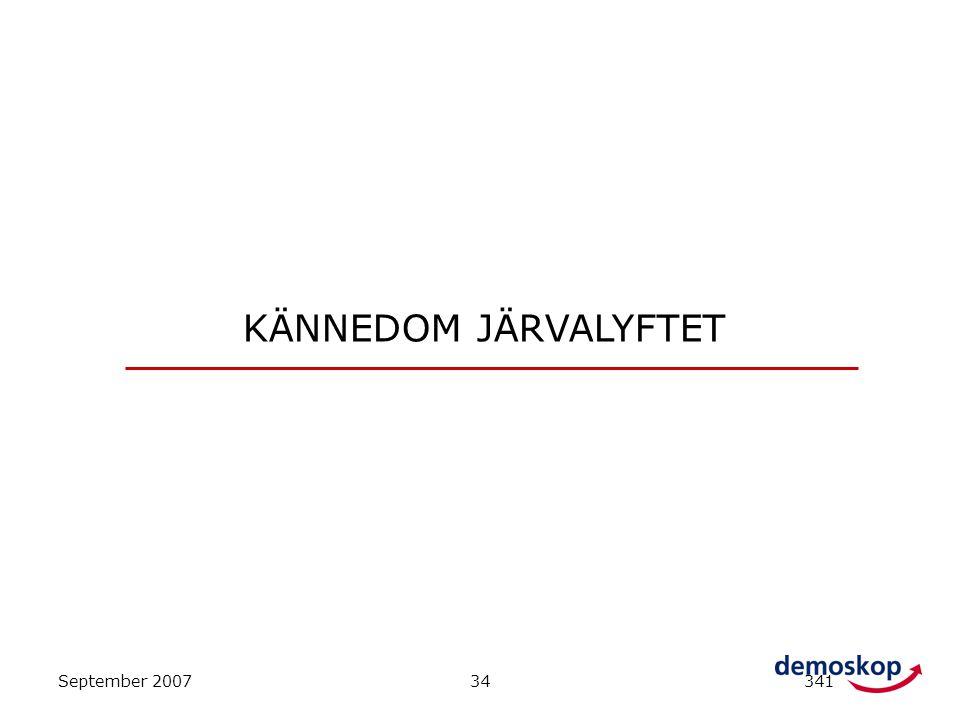 KÄNNEDOM JÄRVALYFTET September 2007 34