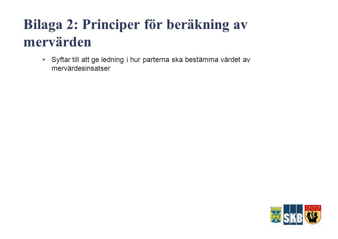 Bilaga 2: Principer för beräkning av mervärden