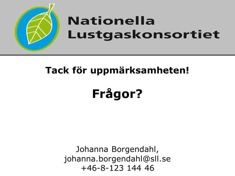 2017-04-02 7. Tack för uppmärksamheten! Frågor Johanna Borgendahl, johanna.borgendahl@sll.se +46-8-123 144 46.