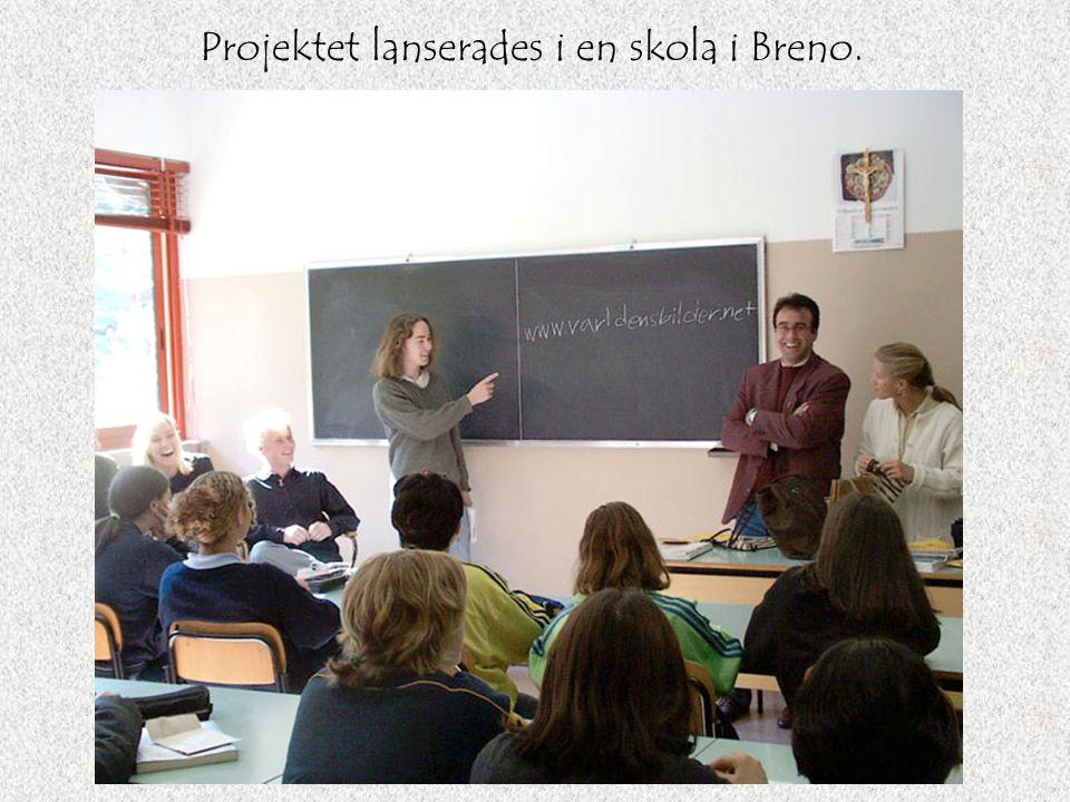 Projektet lanserades i en skola i Breno.