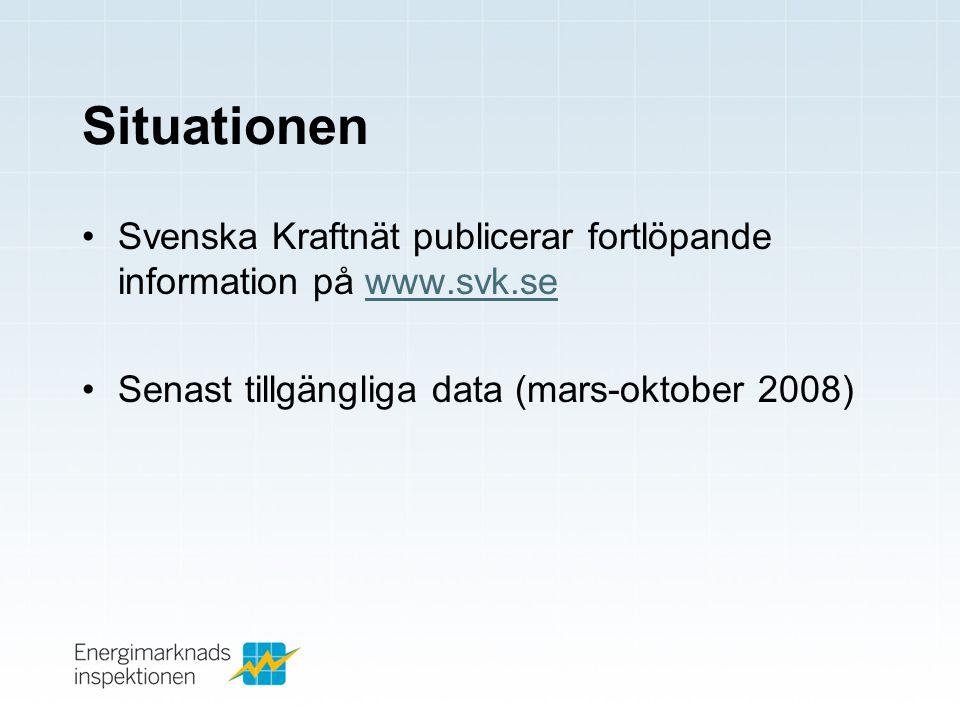 Situationen Svenska Kraftnät publicerar fortlöpande information på www.svk.se.