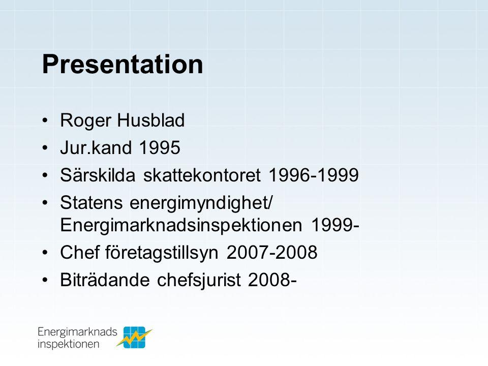 Presentation Roger Husblad Jur.kand 1995