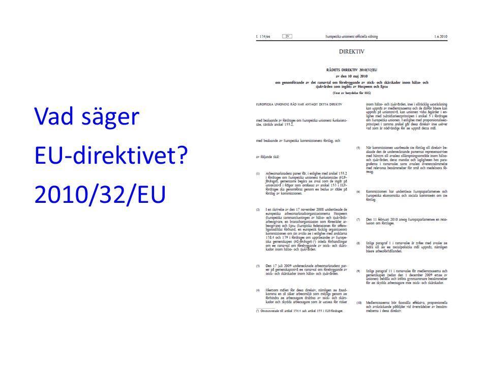 Vad säger EU-direktivet 2010/32/EU
