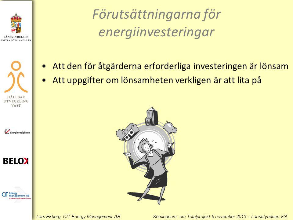 Förutsättningarna för energiinvesteringar