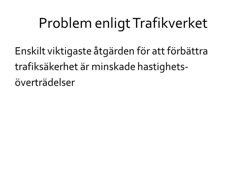Problem enligt Trafikverket