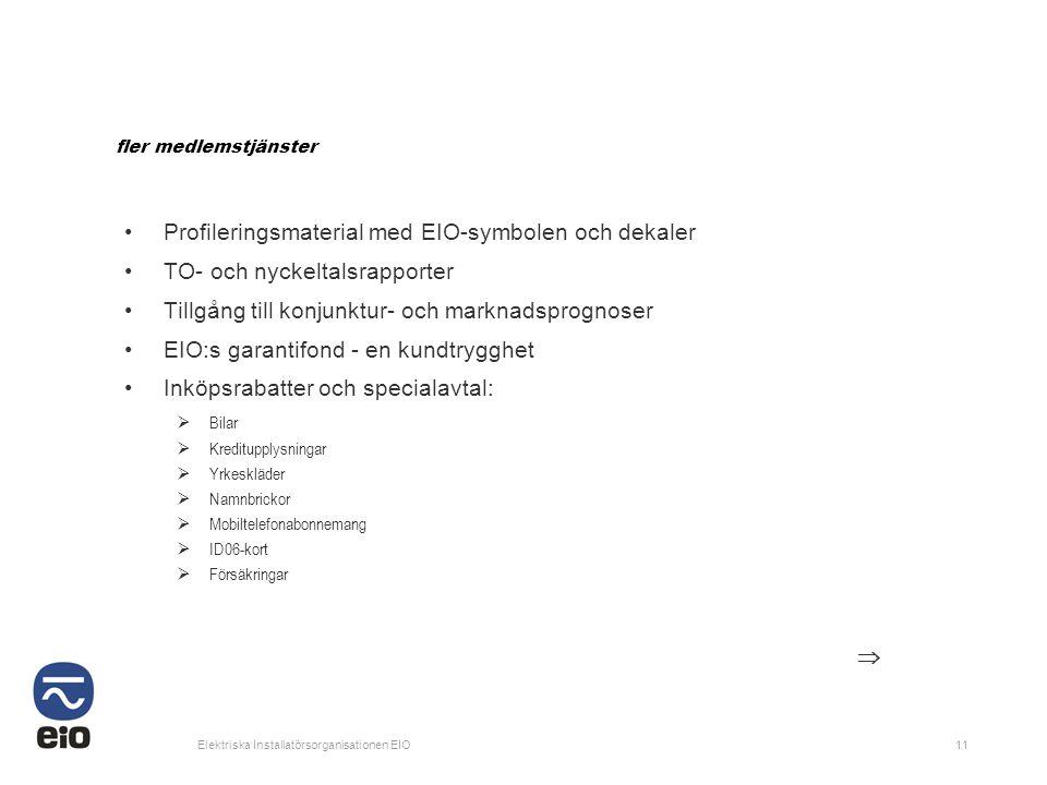 Profileringsmaterial med EIO-symbolen och dekaler