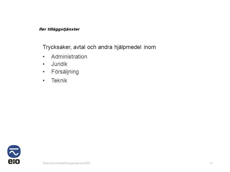 Trycksaker, avtal och andra hjälpmedel inom Administration Juridik