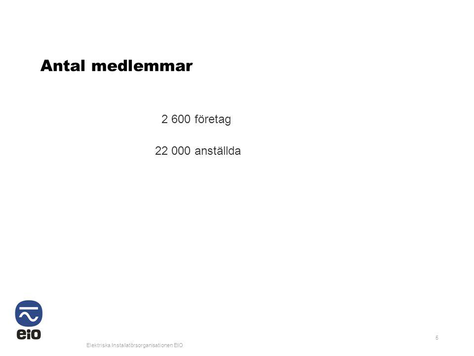 Antal medlemmar 2 600 företag 22 000 anställda